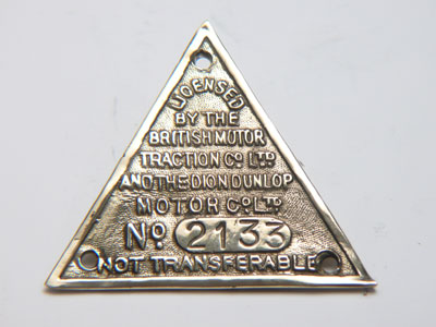 Small Triangle Brass Plate